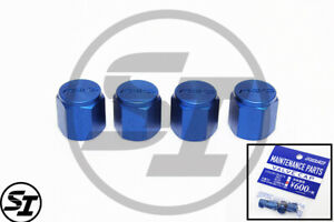 Volk Racing Rays Wheels Rim Valve Stem Cap Caps Blue Made In Japan Authentic