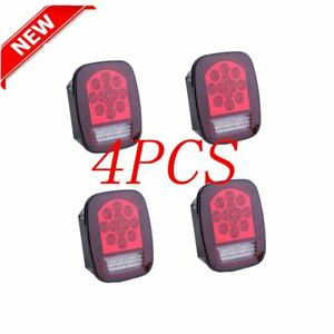 4x Excellent 39 Led Universal Fit Stud Mount Combination Stop Turn Tail Light Ee