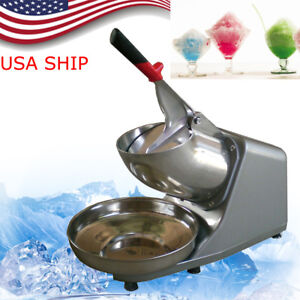 Commercial Electric 132lbs Snow Cone Ice Shaver Maker Machine Ice Crusher Sliver