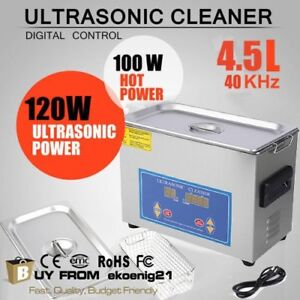 New 4 5l Ultrasonic Cleaner Stainless Steel Industry Heated Heater W timer Ekh