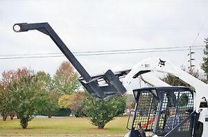 Bobcat Skid Steer Attachment 60 Curved Tree Boom Lifting Pole Ship 199