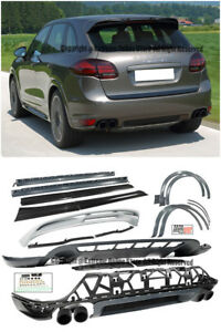 Gts Style Front Lip Rear Diffuser Side Skirts Spoiler For 11 14 Porsche Cayenne