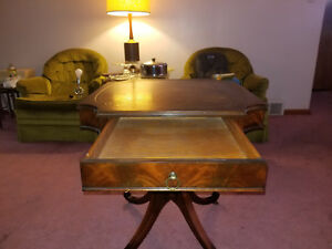 Rare Vintage Leather Weiman Office Table