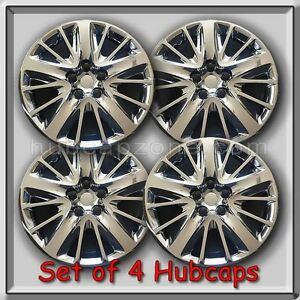 18 Chrome Bolt On 2015 2016 Chevy Chevrolet Impala Hubcaps Wheel Covers Set 4
