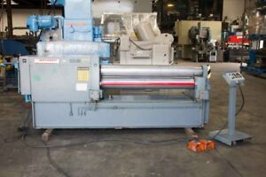 Montgomery Hydraulic Double Pinch Power Metal Plate Roll 3 8 X 5 1990
