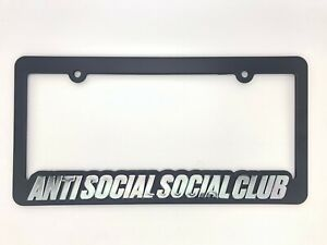Ds Anti Social Social Club Assc Pink Logo Get Weird Frame Black License Plate