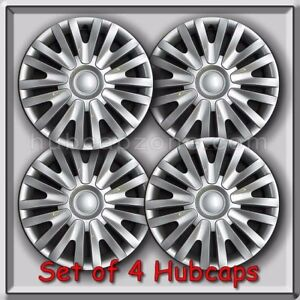 2013 2014 15 Vw Volkswagen Golf Replacement Hubcaps Set 4 Silver Wheel Covers