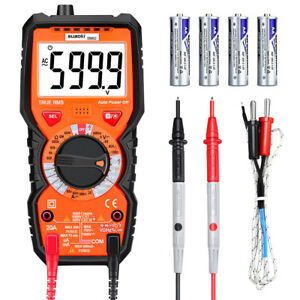Lcd Digital Multimeter Dc Ac Current Voltage Tester Manual Ranger Meter 6000c Us