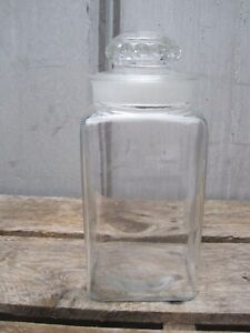 Vintage Country Drug Store Pepsin Candy Jar With Glass Lid A7247