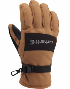 Carhartt Men Brown Waterproof Insulated Durable Winter Work Glove Medium New