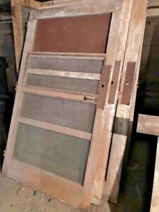 Vintage Wooden Screen Doors