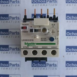 Telemecanique Lr2k0312 Differential Thermal Overload Relay 3 7 5 5a Schneider
