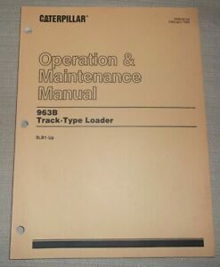 Cat Caterpillar 963b Track Loader Operation Maintenance Book Manual 9bl1 up