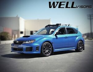 Wellvisors Premium Series Side Window Visors For 08 14 Subaru Impreza Wrx