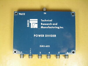 Technical Research And Manufacturing Dms 605 1 2 Ghz 6 way Power Divider