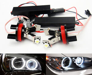 2x Error Free Led For Bmw Angel Eye Halo Light H8 3 series E90 E91 E92 E93 Sport