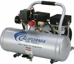 Portable Air Compressor 1 0 Hp Ultra Quiet Oil free Pump 2 0 Gal Aluminum Tank