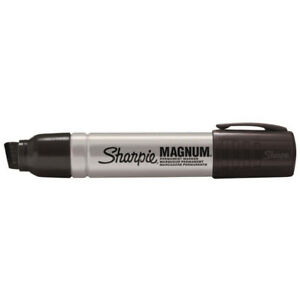 Sharpie Magnum Permanent Marker Extra Large Chisel Tip Black pack Of 12 S09498