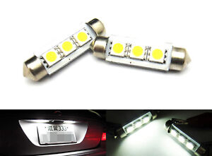No Error 3 Smd Led 6418 6411 License Plate Light For Mercedes White Festoon Bulb
