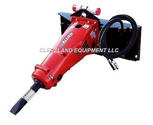 Allied 555 Hydraulic Concrete Breaker Attachment John Deere Skid steer Loader
