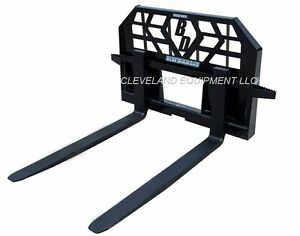 New Blue Diamond Skid Steer Loader Pallet Forks 5000 Lb Capacity