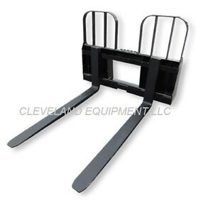 48 Walk Through Pallet Forks Frame Attachment New Holland Skid steer Loader