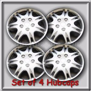 15 Silver Mitsubishi Galant Hubcaps 2000 2001 Replacement Wheel Covers Set Of 4
