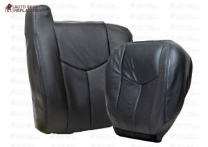 2003 2007 Gmc Sierra Work Truck driver Side Lean Back Vinyl Seat Cover Dark Gray