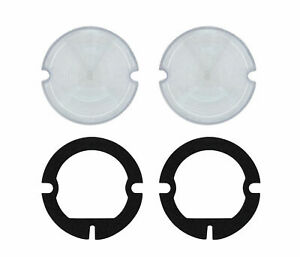 2 1951 1953 Gmc Truck Parking Light Lenses With Gaskets Clear Lens Pair