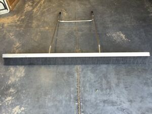 Concrete Broom Used 84 7 Long From Tenth Man Eqpt 60 Long Handles Good Cond