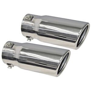 New 1966 76 Fairlane Exhaust Tips Stainless Torino Galaxie Mustang Maverick Ford