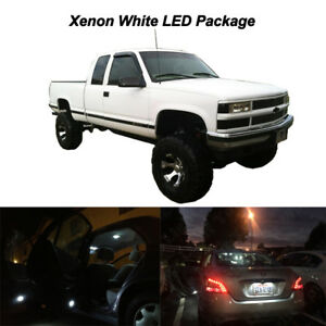 12 X White Led Interior Bulbs Light Package For 1995 1998 Silverado Sierra C1500