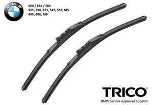 Trico Wiper Blade Pair Set For Bmw E60 E61 E63 5 series And 6 Series 2004 2009