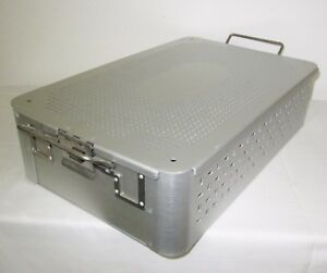 Case Fc04 Perforated Meditray Sterilization Tray Container 22 1 X 10 6 x 4 3