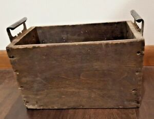 Antique 1919 Eveready 12s35rm Automotive Battery Box Dovetail Wood