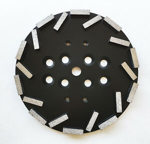 New 10 Concrete Grinding Head Disc Plate For Edco mk blastrac Hus Grinders