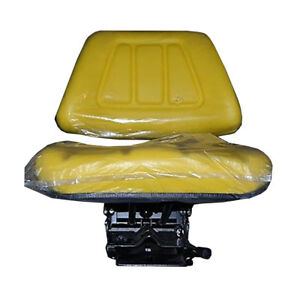 7468 New Yellow Utility Suspension Seat Assembly For John Deere Tractor Models