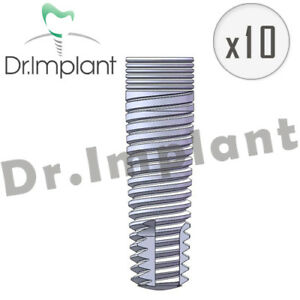 10 Cylindrical Implant Internal Hex Dental Comp With Alpha Bio Biohorizons