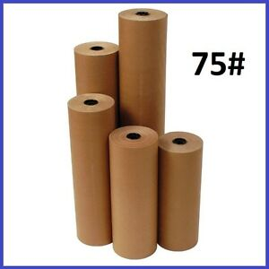 75 Wt Kraft Brown 475 Roll Shipping Wrapping Void Fill Paper 6 Sizes Avail