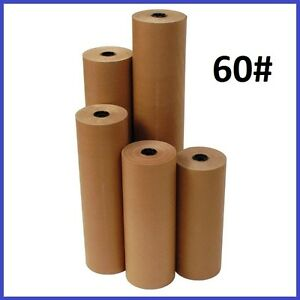 60 Wt Kraft Brown 600 Roll Shipping Wrapping Void Fill Paper 10 Sizes Avail