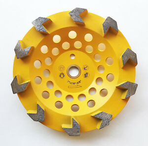 New 7 Arrow Segments Edco Diamond Grinding Cup Wheel W pin Hole The Best