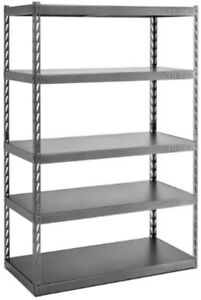 5 shelf Steel Garage Shelving Unit Freestanding Rack Garage Studio Warehouse New