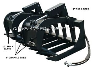 New 84 Severe duty Root Grapple Attachment Bobcat Skid Steer Track Loader 7