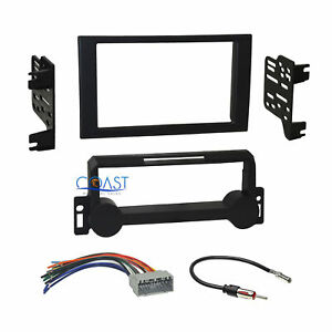 Car Radio Stereo 2 Din Dash Kit Wire Harness For 2004 2010 Chrysler Dodge Jeep
