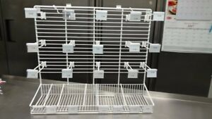 Restaurant Catering Candle Rack Displays 2 White Used But In Excellent Cond
