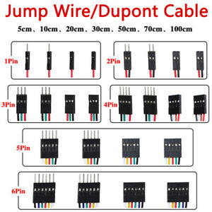 New F f F m M m Jump Wire 1 2 3 4 5 6 Pin Dupont Cable 5 10 20 30 50 70 100cm