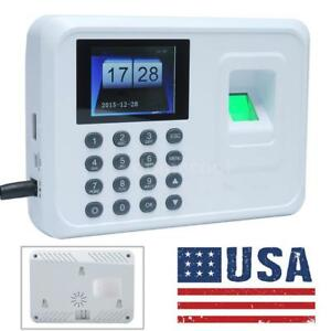 A5 Dc 5v Fingerprint Attendance Machine Time Clock Employee Check in Reader Y6a2