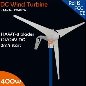 12v Or 24vdc 3 Blades 400w Wind Turbine Generator With Built in Rectifier Module