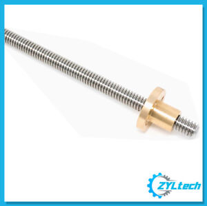 1 2 10 Stainless Steel Acme Threaded Rod Lead Screw Custom Length Up To 72