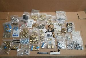 Mixed Lot Industrial Fittings And Connectors New Used Elbows Brass Stainless Etc